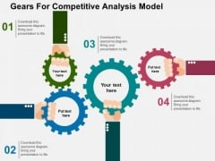 Gears For Competitive Analysis Model PowerPoint Template