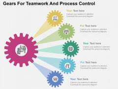 Gears For Teamwork And Process Control PowerPoint Template