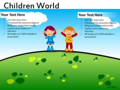 Geen Environment Slides For Kids PowerPoint Templates Ppt Slides