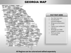 Georgia PowerPoint Maps