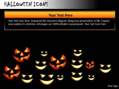 Ghost Halloween Icons PowerPoint Slides And Ppt Diagram Templates