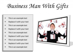 Gifts Man Business PowerPoint Presentation Slides F