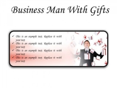 Gifts Man Business PowerPoint Presentation Slides R