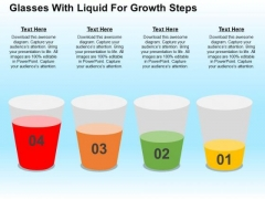 Glasses With Liquid For Growth Steps PowerPoint Templates