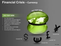 Global Belt Tightening Recession PowerPoint Templates