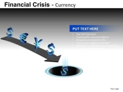Global Currencies Down The Drain PowerPoint Slides