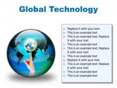 Global Technology Globe PowerPoint Presentation Slides C