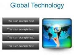 Global Technology Globe PowerPoint Presentation Slides S