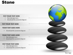 Globe Balanced On Stone PowerPoint Slides And Ppt Diagram Templates
