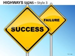 Goals Grass Highways Signs 3 PowerPoint Slides And Ppt Diagram Templates