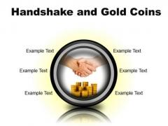 Gold Coins Handshake PowerPoint Presentation Slides Cc