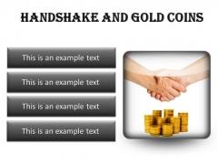 Gold Coins Handshake PowerPoint Presentation Slides S