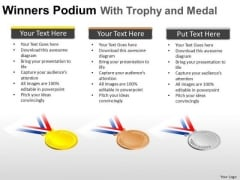 Gold Sliver Bronze Medal PowerPoint Slides And Ppt Diagram Templates