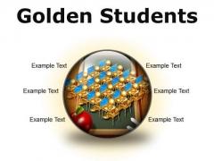 Golden Students Education PowerPoint Presentation Slides C