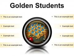 Golden Students Education PowerPoint Presentation Slides Cc