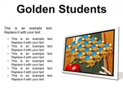 Golden Students Education PowerPoint Presentation Slides F