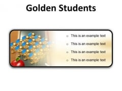 Golden Students Education PowerPoint Presentation Slides R