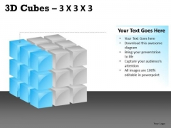 Graphic 3d Cube 3x3x3 PowerPoint Slides And Ppt Diagram Templates