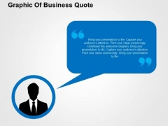 Graphic Of Business Quote PowerPoint Templates