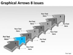 Graphical Arrows 8 Issues Free Flowchart Maker PowerPoint Templates