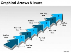 Graphical Arrows 8 Issues Make Flowchart PowerPoint Templates