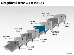 Graphical Arrows 8 Issues Ppt 6 Engineering Process Flow Chart PowerPoint Slides