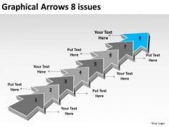 Graphical Arrows 8 Issues Ppt 9 Flow Chart Maker Free PowerPoint Slides