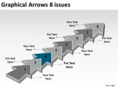 Graphical Arrows 8 Issues What Are Business Requirements PowerPoint Templates