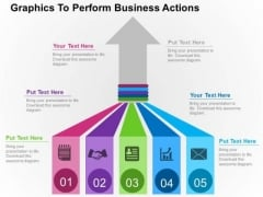 Graphics To Perform Business Actions PowerPoint Template