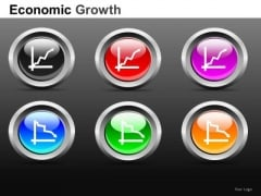 Graphs Going Up Or Down PowerPoint Icons