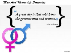 Greatest Quotes About Man And Women Life PowerPoint Presentation Template
