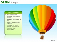 Green Energy Balloon PowerPoint Ppt Templates