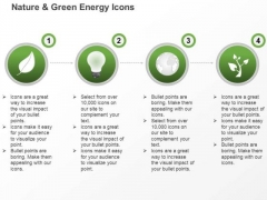 Green Energy Icons For Energy Production And Usage Ppt Slides Graphics