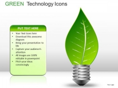 Green Energy Light Icons PowerPoint Slides And Ppt Diagrams Templates