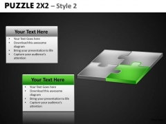 Green Energy Puzzle Piece PowerPoint Slides And Green Puzzle Editable Ppt Templates