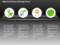 Green Plug With Home Battery And Green Globe For Ecology And Green Energy Ppt Slides Graphics