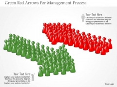 Green Red Arrows For Management Process PowerPoint Template