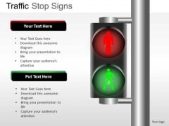 Green Red Stop Go Sign Traffic Direction PowerPoint Slides And Ppt Diagram Templates