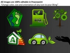 Green Technology PowerPoint Clipart Image Slides