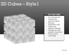 Grey 3d Cube PowerPoint Slides And Ppt Diagram Templates