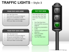 Gridlock Traffic Light PowerPoint Slides And Ppt Diagram Templates