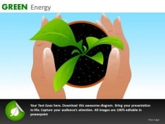 Grow Plants Green Energy PowerPoint Ppt Templates