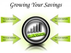Growing Your Savings Future PowerPoint Presentation Slides Cc