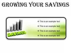 Growing Your Savings Future PowerPoint Presentation Slides R