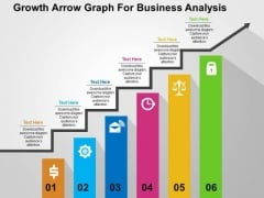 Growth Arrow Graph For Business Analysis PowerPoint Templates