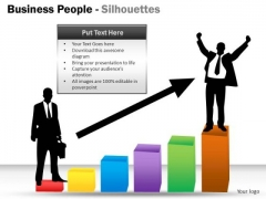 Growth Business People Silhouettes PowerPoint Slides And Ppt Diagram Templates
