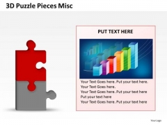 Growth Chart Puzzle Piece PowerPoint Slides And Ppt Diagrams