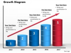 Growth Diagram PowerPoint Template PowerPoint Presentation Template