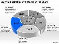 Growth Illustration Of 5 Stages Pie Chart Ppt Business Plan Steps PowerPoint Slides