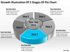 Growth Illustration Of 5 Stages Pie Chart Ppt Simple Business Plan PowerPoint Slides